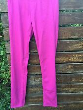 New Women Ladies JAPAN Uniqlo Hot Pink PANTS tights trousers XS