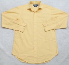 Ralph Lauren Dress Shirt Long Sleeve 15 32/33 Cotton Yellow Solid Men's Man Top