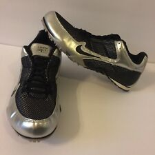 Nike Zoom Rival Mens Athletic Track Silver Black Bowerman Shoes Cleats Size 11