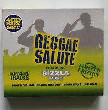 Sizzla - Reggae Salute .  2007. 4 CD box Set. New and Sealed.