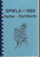 Dallas Fort Worth Texas SPWLA Cookbook-Recipes-Cooking-Menus