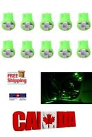 10x T10 194 168 1W 4SMD LED Car Side Lamp Dome Map License Light Bulbs Green