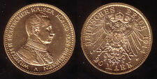 "20 Mark Gold Preussen ""Wilhelm II. - Kaiser in Uniform"" 1914, Erhaltung !"