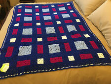 Handmade Afghan / Throw Blanket - Designer Collection - Stepping Stones