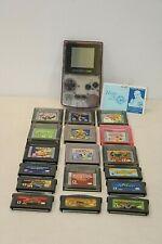 Nintendo Game Boy Color Purple Handheld System + Lot of 17 Games