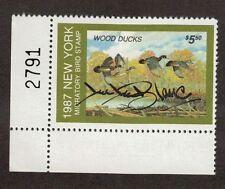 NY3 - New York State Duck Stamp. Bottom Left PNS. Artist Signed.  MNH. OG.