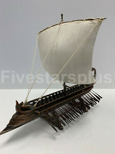 TRIREMES GREEK WARSHIP  - Handcrafted Model Ship Cold Cast Bronze