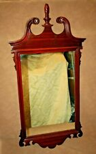 """Antique Duncan Phyfe Style 48"""" Tall American Mahogany Hanging Wall Mirror"""
