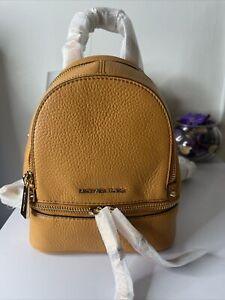 Michael Kors Rhea Zip Mini Leather Backpack Cider