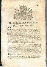 CONSIGLIO SUPREMO 1800 PIEMONTE SAVOIA DISPOSIZIONE OPERATIVE CASSA DI RISCATTO