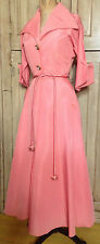 60s Post WWII Marilyn Hostess Gown Salmon Pink Satin Taffeta B 34 Lounging Robe
