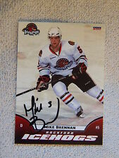 Chicago Blackhawks Mike Brennan Signed 09/10 Rockford IceHogs Card Auto