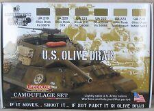 LifeColor Acrílicos LC-CS11 Guerra Mundial 2 US Army Oliva conjunto De Pintura
