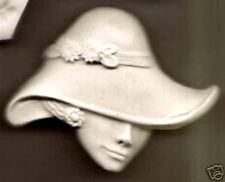 EXCLUSIVE ELEGANT BIG HAT LADY - POLYMER CLAY MOLD