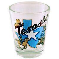 TEXAS STATE & STAR SHOT GLASS SHOTGLASS
