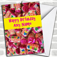 Love Heart Sweets Romantic Personalised Birthday Card