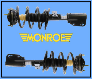 2 Suspension Strut and Coil Spring Assembly Front L & R MONROE Pair/GAS