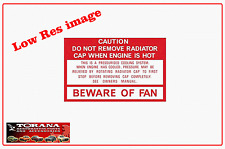 Decal, Beware of Fan - 1977 - 1988 for Torana, Commodore, Statesman and Holden