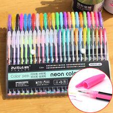 48 Colors Neon Gel Ink Pens Set Drawing Painting Coloring Art Album Markers DIY