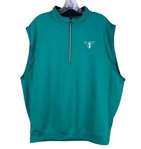 FootJoy Men's Golf Vest Size XL Green 1/4 Zip Robert Trent Jones Top Performance