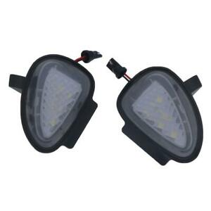 2x Error Free LED Side Mirror Puddle Light For Golf 6 Cabriolet  Touran 2009+