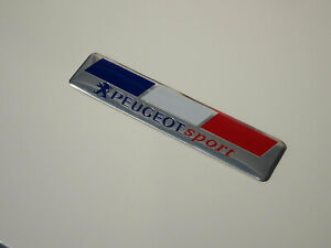 PEUGEOT SPORT BADGE EMBLEM FRENCH FLAG COLOURS 208 GTI WRC TURBO 205 306 307 CC