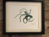 Octopus Watercolour, Original Signed Art, Gift