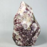 348g Natural Red Tourmaline Stone Polished Freeform Crystal Reiki Statue