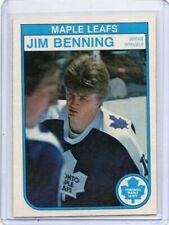 82-83 O-Pee-Chee Jim Benning RC Maple Leafs