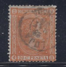 ESPAÑA (1875) USADO SPAIN - EDIFIL 165 (20 cts) ALFONSO XII