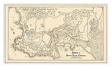 "Map of Pebble Beach & Monterey Peninsula Country Club circa 1909 - 24"" x 42"""