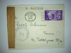 17.9.1948 Northwood nach Wien mit Zensur Stempel