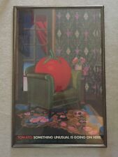 "Milton Glaser Poster ""Something Unusual Is Going On Here"" Tomato Music Records"