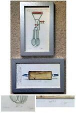 Kolene Spicher Kitchen Tools Rolling Pin/Mixer  2 Framed Signed Prints 1998'