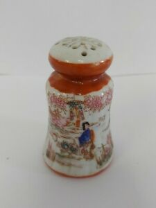 Beautiful Hand-painted Vintage Satsuma Moriage Salt Shaker Cork stopper