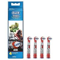 4 x Oral-B Stages Kids Star Wars Replacement Heads Childrens Electric Toothbrush