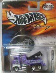 Hot Wheels Treasure Hunt Rig Wrecker NASCAR Homestead Miami 2001 Super T-Hunt