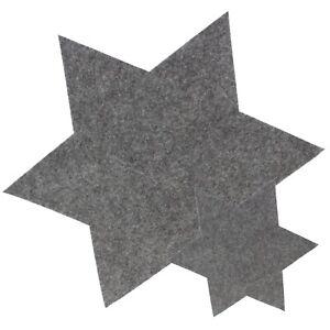 6 x Filzsterne Sterne aus Filz Untersetzer Weihnachtsdeko Tischset Platzset