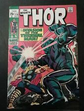 Thor #170 (1969) Jack Kirby VF-7..5 Crisp And Bright With Original Ink Blotches!