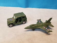 Vintage Military Pencil Sharpeners Die Cast Metal - Lot of 2 - Jeep & Jet Plane