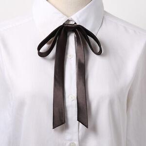 Shirt Accessory School Tassel Vintage Bow Tie Cravat Satin Bowtie Ribbons Knot