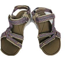 Skechers Goga Max Women Sz 8 On The Go Strap Sandals Shoes Tan Hiking Walk 14644