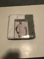 3 Calvin Klein Men's Tee Shirts. Size Large. V-Neck. 100% Cotton. NWT. $12