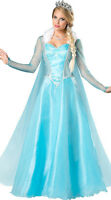 Adults Halloween Costume Frozen Queen Elsa Princess Cosplay Fancy Dress Size8-16