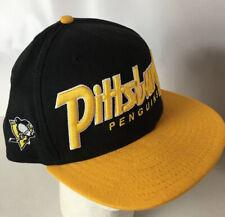 Pittsburgh Penguins Hat Cap 9FIFTY Big Script Spellout Logo Snapback NHL PENS