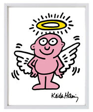 Keith Haring L'IL ANGEL babies TWO 11x14 Giclee Pop Art Prints **SALE