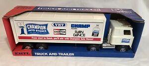 """New in Box, Vintage, Very RARE Ertl Champion Auto Stores Semi Truck Trailer 22"""""""