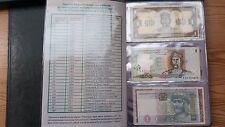 Ukraine - set 28 banknotes 1 2 5 10 20 50 100 Hryven 1992 - 2015 UNC in album