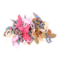 12PCS Girl Rabbit Ear Scrunchies Hair Band Rope Elastic Tie Ponytail Holder STDE