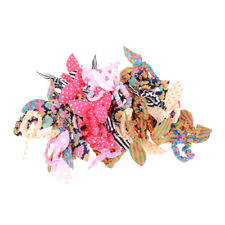 12PCS Girl Rabbit Ear Scrunchies Hair Band Rope Elastic Tie Ponytail Holder Lot